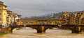 Florence panorama old bridge river arno Stock Images