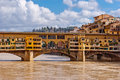 Florence panorama old bridge tuscany italy Royalty Free Stock Photography