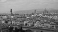 Florence panoramatic view ii italy on and river arno tuscany Royalty Free Stock Image