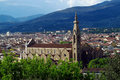 Florence panoramic city view Royalty Free Stock Photo