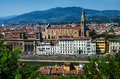 Florence, Santa Croce franciscan church Stock Images