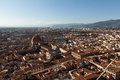 Florence the view on from the dome duomo Royalty Free Stock Photo