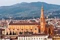 Florence, view of Santa croce church. Tuscany. Royalty Free Stock Image