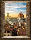 Florence from window Royalty Free Stock Photo