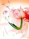 Flores del Water-colour Imagen de archivo libre de regalías