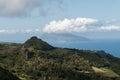 Flores ponta delgada island and bottom corvo island azores portugal Royalty Free Stock Photography