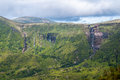 Flores waterfall of ribeira grande in fajazinha island azores Royalty Free Stock Photography