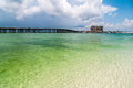 Florida beach scene crystal clear water at destin near okaloosa island Stock Image