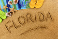 Florida beach writing Royalty Free Stock Photo