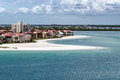 Florida coastline hotels with houses and Stock Photos