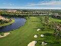Florida Golf Course Flyover Royalty Free Stock Photo