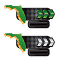 Florida icon on checkered black tabs with arrows Royalty Free Stock Photo