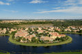 Florida Neighborhood Flyover Stock Photography