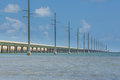 Florida overseas highway the long which carries route from miami to key west Stock Images