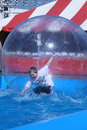 Florida State Fair: Boy in the Bubble Royalty Free Stock Photo