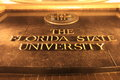 Florida state university the james westcott building logo on the campus of in tallahassee go noles Royalty Free Stock Photo