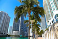 Florida style miami modern architecture Royalty Free Stock Photography