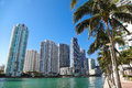 Florida style miami modern buildings Stock Image