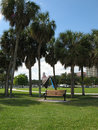Florida Waterfront Park Royalty Free Stock Photo