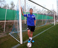 Florin andone romanian striker pictured at his first call for romania national team Stock Images