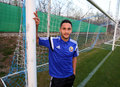 Florin andone romanian striker pictured at his first call for romania national team Stock Image