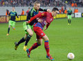 Florin gardos and kolbeinn sigthórsson steaua bucharest s player fights for the ball with ajax amsterdam s latovlevici during the Stock Images