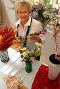 Florist shop owner Royalty Free Stock Photo