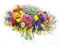 Floristry - colorful bridal bouquet of fresh flowe Stock Photography
