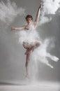Flour dance Royalty Free Stock Photo