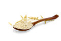 Flour oat in spoon Royalty Free Stock Photo