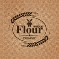 Flour sackcloth texture background this is file of eps format Royalty Free Stock Image
