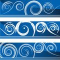 Flourish banner set an image of a of swirl banners Royalty Free Stock Photography
