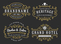 Flourish frame for labels, banner, logo Royalty Free Stock Photo