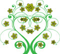 Flourish green is isolated on a transparent background Stock Images