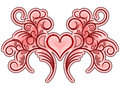 Flourish valentine ornament Royalty Free Stock Photo