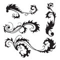 Flourishes set 2 Royalty Free Stock Photo