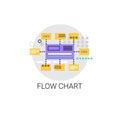 Flow Chart Analysis Concept Data Icon