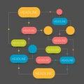 Flow chart scheme. Infographics elements.
