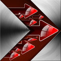 Flow red arrows background metal abstract with and Stock Photos