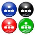 Flowchart button Royalty Free Stock Photo