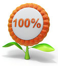 Flower 100% icon Stock Photography