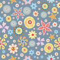 Flower abstract repeated patterns Royalty Free Stock Photo