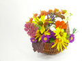 Flower arrangement with autumn flowers Royalty Free Stock Photo