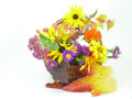 Flower arrangement with autumn flowers Stock Photography