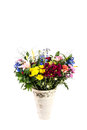 Flower arrangement a beautiful in a vase set on a white islolated background Royalty Free Stock Photography