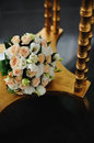 Flower Arrangement  and golden table Stock Image