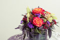 Flower arrangement toned imaged of Royalty Free Stock Images