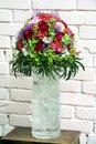 Flower Arrangement for the wedding ceremony. Royalty Free Stock Photo