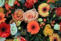Wedding flowers in yellow, pink and orange Royalty Free Stock Photo