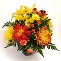 Flower arrangement on white background #3 Stock Photo